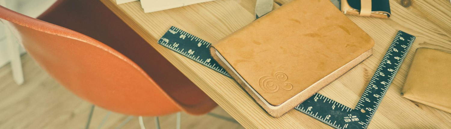 study desk with ruler